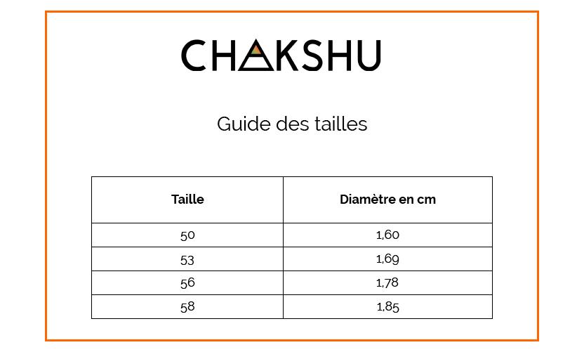 CHAKSHU - Guide des tailles