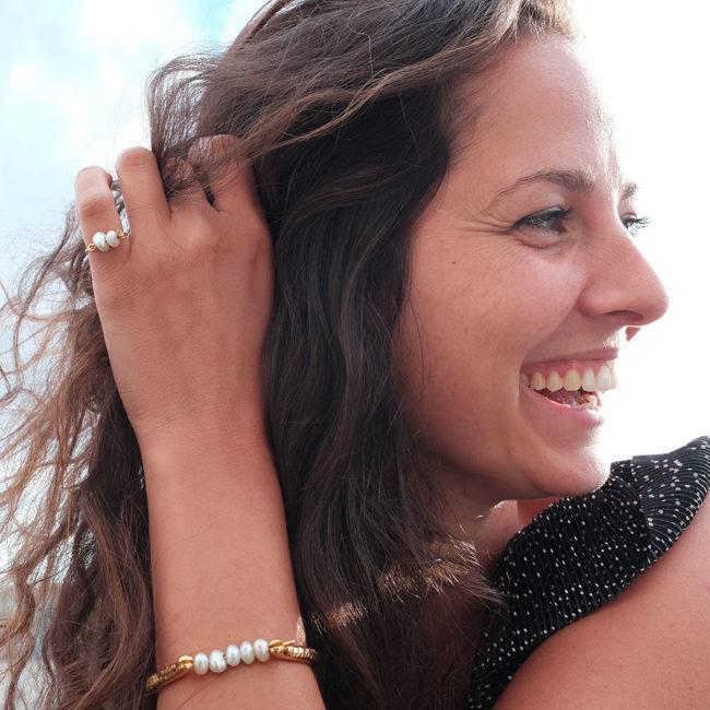 perle bracelet bague rire