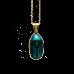 Packshot scarabée bleu vert pendentif