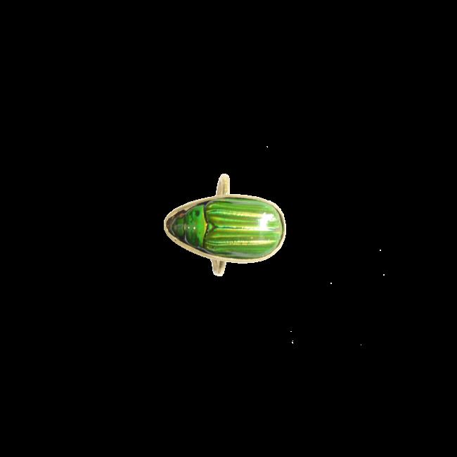Scarabée vert bague packshot