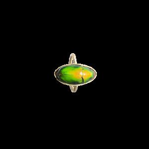 Scarabée vert petit bague
